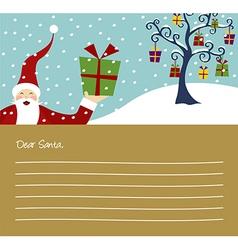 Christmas series Happy Santa Claus and Christmas vector image