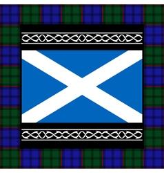 flag of scotland with tartan vector image vector image