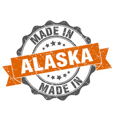 made in alaska round seal vector image
