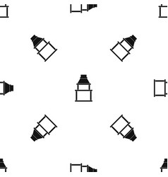 bbq grill pattern seamless black vector image vector image