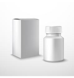Blank medicine bottle vector image