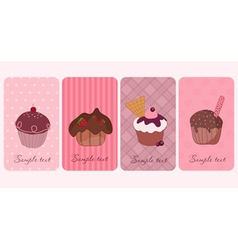 cupcakes banners set vector image vector image
