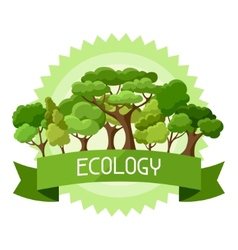 Ecology background design with abstract stylized vector image vector image
