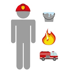 firefighter job vector image