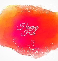 happy holi colorful ink background vector image vector image