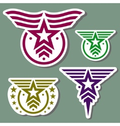 Military style logo set vector