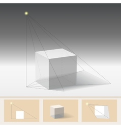 Principle of constructing the shadow vector image vector image