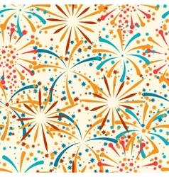 Seamless pattern with abstract fireworks and vector image vector image