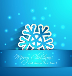 snowflake with shadow effect winter vector image