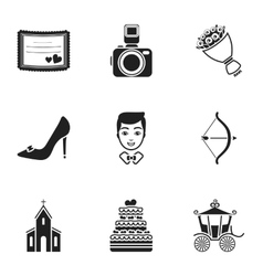 Weeding set icons in black style big collection vector