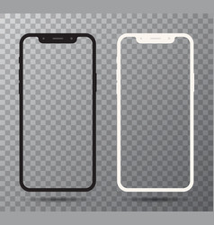 0001 realistic white and black smartphone vector