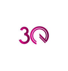 30 years anniversary celebration purple line vector