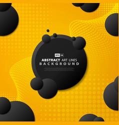 abstract gradient yellow tech line modern design vector image