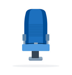 aircraft seat flat material design isolated vector image