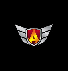 auto guard letter a icon logo design concept vector image