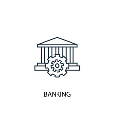 banking concept line icon simple element vector image