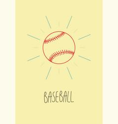 Baseball vintage hand drawn style poster vector