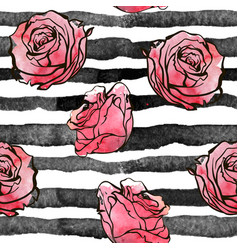beautiful seamless background roses flowers vector image