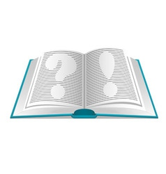 book questions and answers vector image