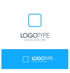 Box checkbox unchecked blue outline logo place vector
