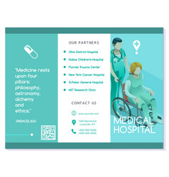 Brochure healthcare turquoise medical clinic vector