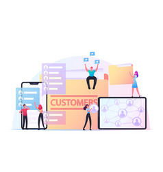 Business characters expand customers base vector