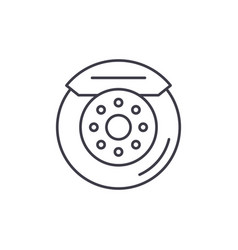 car brake pads line icon concept car brake pads vector image