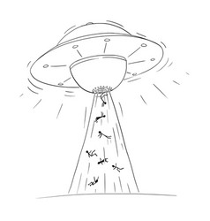 Cartoon drawing of alien space ship or ufo vector
