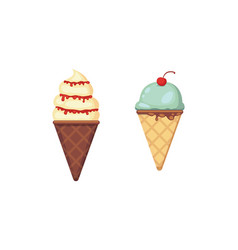 collection of cartoon ice cream vector image