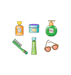 collection woman cosmetics and accessories vector image