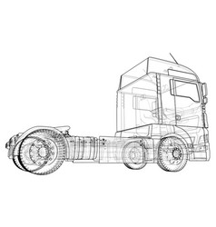commercial cargo delivery truck isolated created vector image