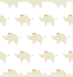 cute animal elephants kids seamless pattern child vector image