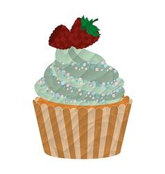 delicious cupcake vector image
