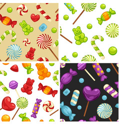 delicious sweet candies in bright covers and vector image