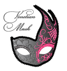 Drawing of venetian mask vector
