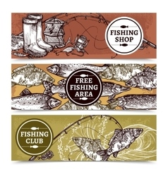 Fishing Horizontal Banners vector image
