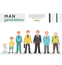 Flat people generation collection vector