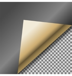 Folded up black foil blank note paper vector