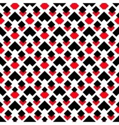 Geometric White Red Black Arrow Pattern vector