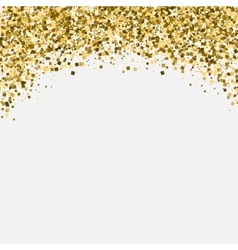 Gold glitter shimmery heading Invitation card or vector