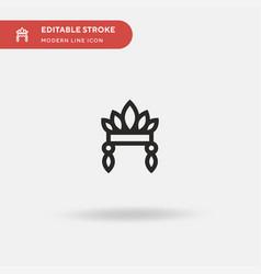 headdress simple icon symbol vector image