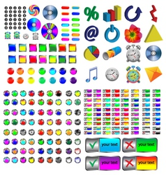 Icons and buttons vector