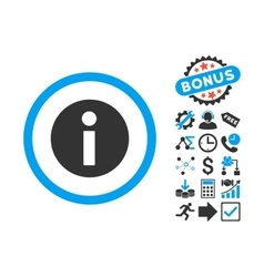 Information Flat Icon with Bonus vector image