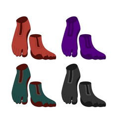 Innovative trendy footwear with five toes vector
