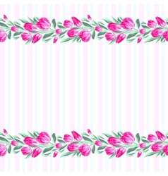 Invitation cards with flowers vector
