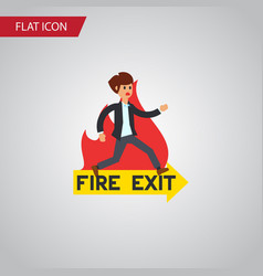 isolated fire exit flat icon emergency vector image