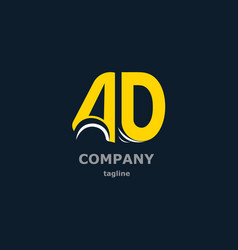 letter logo for the company name vector image