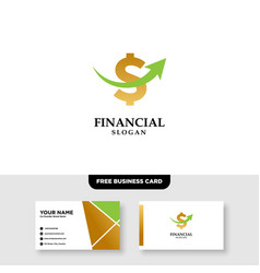 Letter s finance logo and business card template vector