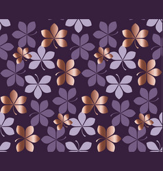 Luxury style elegant nature leaves motif vector