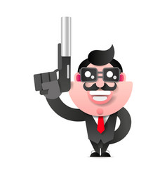 mafioso with gun retro mafia man pop art mafia vector image